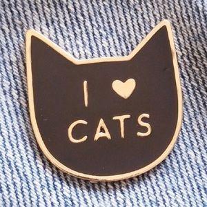 Jewelry - Hard enamel I 💛 cats 🐈 pin - NWT